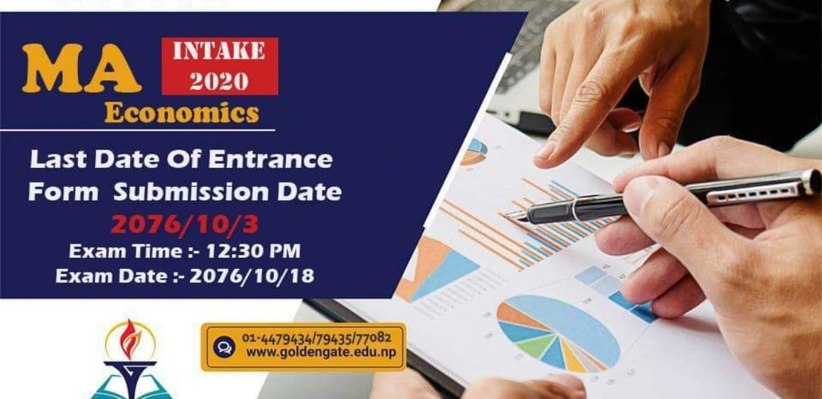 Admission Open for MA Economics at GoldenGate International College