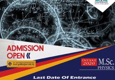 Admission Open for M.Sc. Physics at GoldenGate International College.