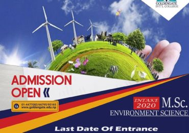 Admission Open for M.Sc. Environment Science at GoldenGate International College.